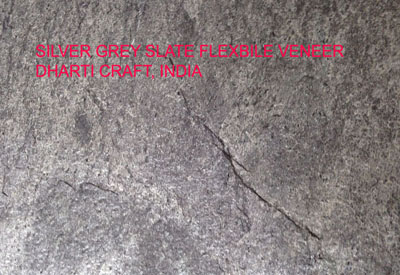 Indian Silver Grey stone veneer a grey color veneer sheet for wall covering