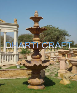 stone fountain made of sandstone for garden, interior and exterior decoration